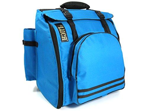 D 'luca Pro Series Akkordeon Gigbag für 12Bass Akkordeons, 1,2und 3Reihe Tasten Panther Corona blau