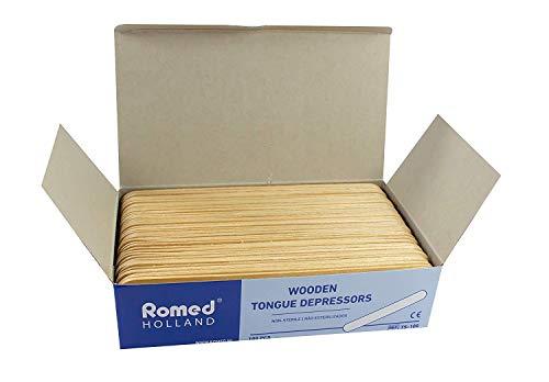 Holzspatel Mundspatel Spatel Bastelspatel von Romed Medical (Menge: 500 Stück)