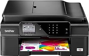 Brother MFC-J650DW 4-in-1 Farbtintenstrahl-Multifunktionsgerät (Scanner, Kopierer, Drucker, Fax, Duplex, WLAN, USB 2.0) schwarz