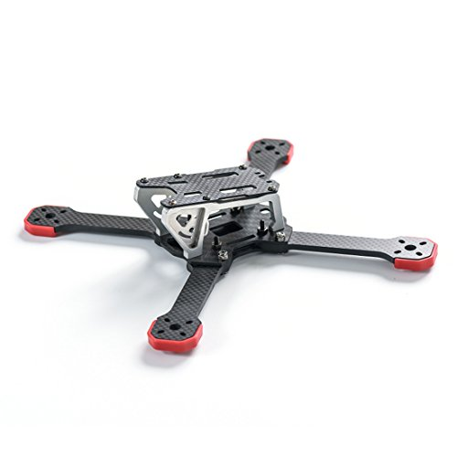 GEHOO TransTEC Frog Lite Frame Aluminum Mini 218mm X Quadcopter Frame Kit for DIY RC Racing Drone Unagitated-heat Lightweight