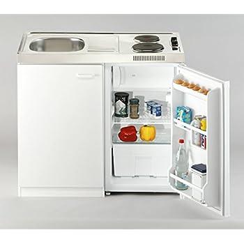 Respekta Miniküche Pantry Single Küche Küchenblock 100 Cm Weiss