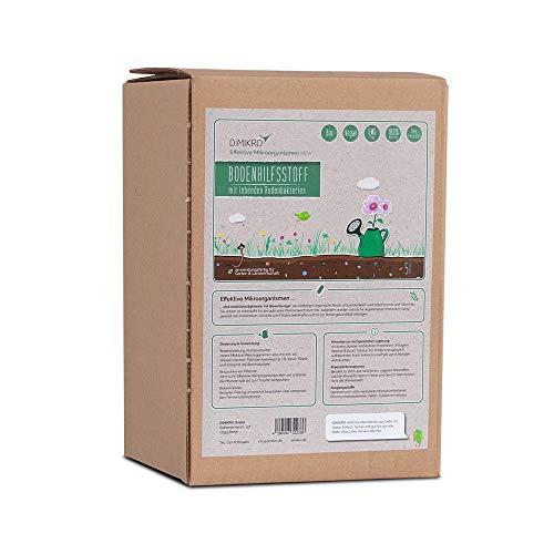 Effektive Mikroorganismen aktiv 5 Liter - EM aktiv - DIMIKRO® Bodenhilfsstoff - Anwendungsfertig für Garten & Landwirtschaft z.B. Bodenaktivator, Kompostbeschleuniger, Pflanzenschutz - 100% Vegan
