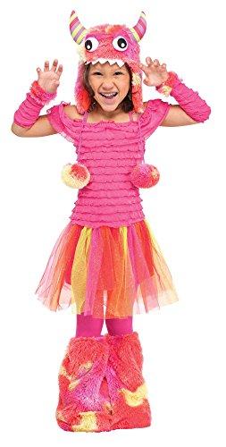 Unbekannt Fun World Costumes Baby Mädchen Kostüm Wild Kind Kleinkind - Rosa Kleinkind Monster Kostüm