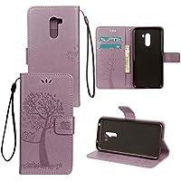Shinyzone Xiaomi Pocophone F1 Brieftasche Leder Flip Hülle,Premium PU Geprägte Eule Baum [Lavendel],Magnetverschluss... preisvergleich bei billige-tabletten.eu