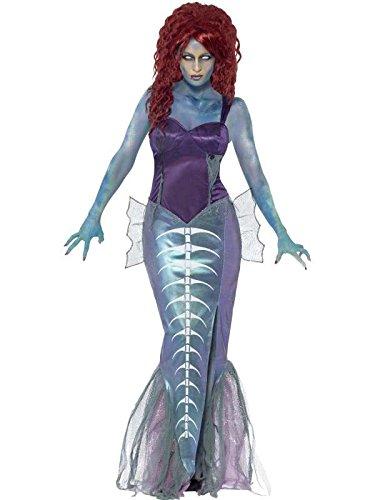 Zombie Damen Kostüm Meerjungfrau als Nixe an (Kostüme Zombie Meerjungfrau)