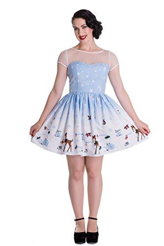 (Hell Bunny Nevara Weihnachten Mini Kleid (L - 40))