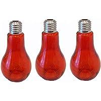 Deko Botella Botella de cristal (3 unidades, 12 cm de altura jarrón Glass Naranja
