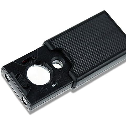 Latinaric 30x 45x 60x 3lenti ottico portatile Mini mignifier gioielli lente d' ingrandimento Pull Tipo Lente d' ingrandimento con LED luce UV per Stemp diamante identificazione Appreciation 1 pezzo