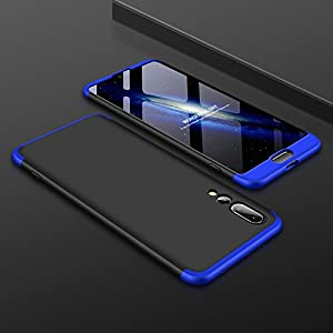 eCosmos Double Dip Full Protection Back Cover Case for Huawei P20 Pro/P20 Pro (Blue and Black)