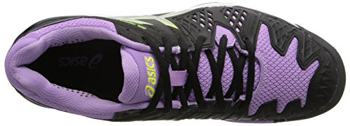 Asics Gel Resolution 6 Wide Womens Tennis Shoe White/Silver - Wide Version Black/Silver/Orchid