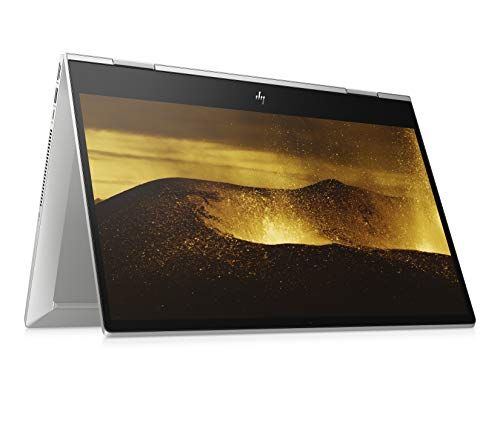 HP ENVY x360 15-dr1234ng (15,6 Zoll / UHD Touch) Convertible Laptop (Intel Core i7-10510U, 16GB DDR4 RAM, 1TB HDD, Nvidia GeForce MX250 4GB GDDR5, Windows 10 Home, Fingerabdrucklesere) silber