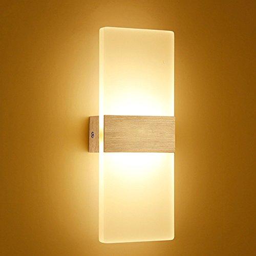 Create for Life® LED Lámpara de pared Acrílico moderna de aluminio luces blanco cálido (3000K 6W)