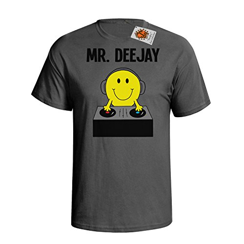`Mr Deejay` mens herren Hobbies / Berufe perfect music DJ gift t shirt Holzkohle