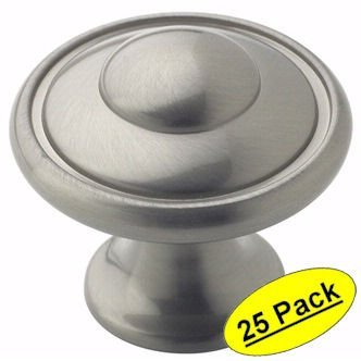 Amerock BP53002-G10 1-3/16 Diameter Mushroom Cabinet Knob from the Allison Value Collection, Satin Nickel - by Amerock - Collection Satin Nickel Cabinet Knob