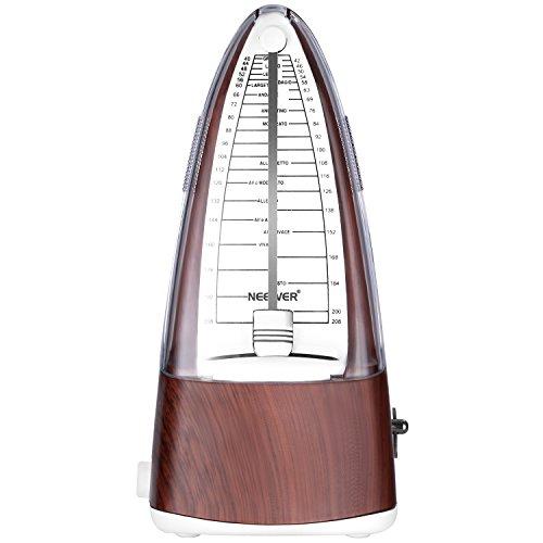 Neewer NW-706 Pyramid mechanischer Metronom mit genaues Timing und Tempo für Klavier Gitarre Bass Drum Violine und andere Musikinstrumente , Ideal für Musikliebhaber , Anfänger oder Musiker (Teak)
