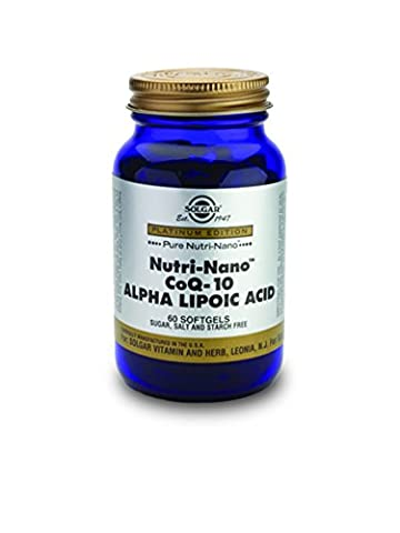 Solgar Nutri-Nano CoQ-10 Alpha Lipoic Acid Softgels, 60 S Gels