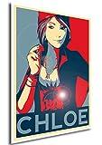 "Poster Life is Strange ""Propaganda"" Chloe - Formato A3 (42x30 cm)"