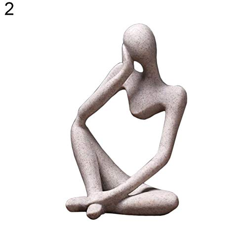 LINZX Resina Estilo Europeo Pensador Abstracto Estatua
