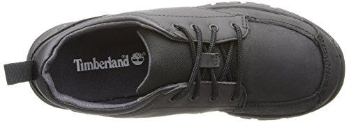Timberland Discovery Pass Plain Toe Jugend Rund Leder Schnürschuh Black