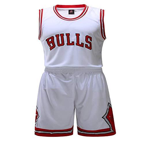 kot Herren Bulls Trikot, Bedruckt und individuell Bedruckt Sommer atmungsaktives Sweatshirt Shirt White-XL ()