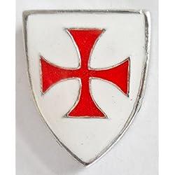 Caballeros Templarios Escudo Masónico Esmaltada Peltre Prendedor Pin - LP758
