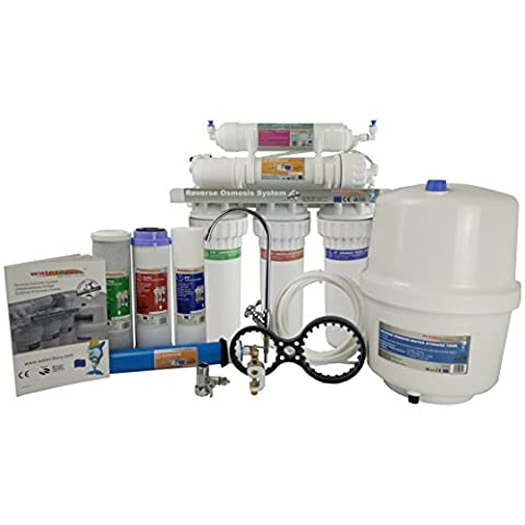 Water2Buy RO500 Reverse Osmosis Water Filter System Build for UK home Removes up to 98% contaminants