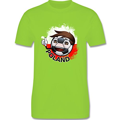 EM 2016 - Frankreich - Fußballjunge Polen - Herren Premium T-Shirt Hellgrün