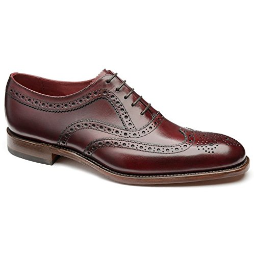 Loake Fearnley Mens Formal Lace Up Shoes 6 Burgundy Calf