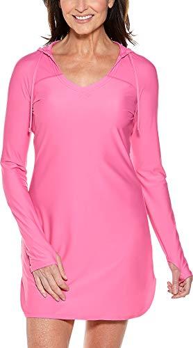 Coolibar UPF 50+ Damen Seacoast Schwimmkleid mit Sonnenschutz - rosa - Medium - Rosa Schlag-trockner