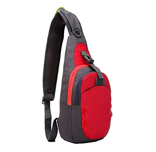 Wicemoon Uomini E Donne Tasca Tasca Tempo Libero Moda Impermeabile Nylon Borsa Sportiva Allaperto, Rosso Rosa Rossa