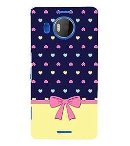 Multicolor Heart Design 3D Hard Polycarbonate Designer Back Case Cover for Nokia Lumia 950 XL :: Microsoft Lumia 950 XL