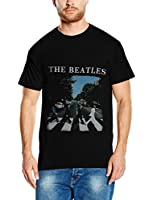 The Beatles Herren T-Shirt Abbey Road And Logo