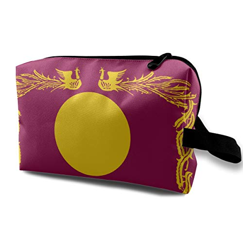 Travel Cosmetic Bag Fictional Asian Flags Mini Makeup Pouch for Women Girls ()