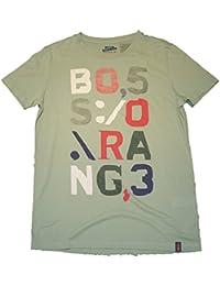 BOSS ORANGE T-SHIRT TRICOT 2 FARBE OLIVEN GRÜN 336 (XL)