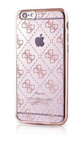 Guess 4G Collection Etui en TPU pour iPhone6/6S Transparent/Rose