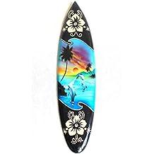 Deko Surfboard Miniatur Surfbrett wellenreiten surfen Holz 30cm inkl Ständer