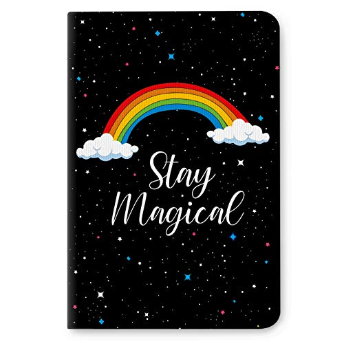 Factor Notes - Stay Magical (Black) Dotted Bullet Grid B6 Notebook - Premium Stationary, Natural Shade Paper Journal Diary - Size - 120mm X 180mm