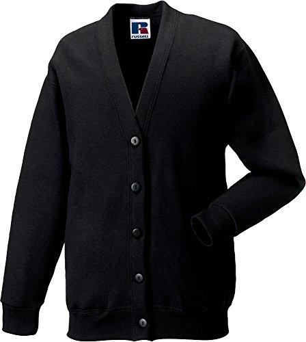 Jerzees Schoolgear Cardigan Sweatshirt pour enfant en coton Ringspun Smart Pull Rouge - Bordeaux