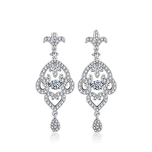 Mariage bijoux ensembles colliers/ boucles d'oreilles/925 Collier argent cubic zirconia B