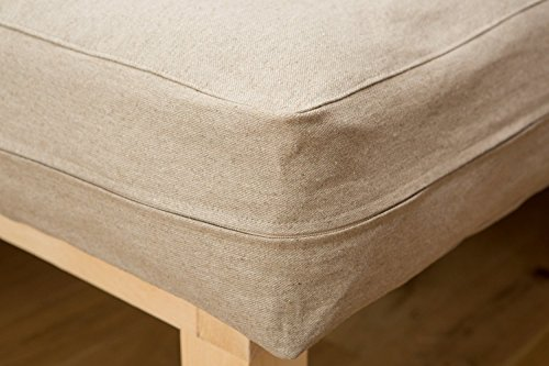 Home of Wool/Zip-Off Mattress Cover / 3-Sides Long Zipper/Twin, Full, Double, Queen, King or Custom Size/Non-toxic Natural Bedding/Natural Color/Custom Sizes, Shapes, Fabrics Available