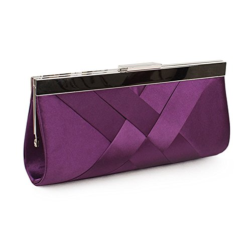 Millya colore: nero Diamante, da matrimonio, con scritta: Evening Clutch Bag-Borsa per basso, ragazza donna, Nero 1, S Purse