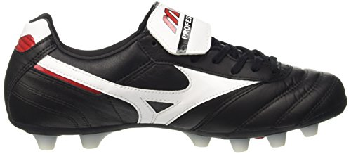 Mizuno Morelia Ii Md, Chaussures de Football Homme Noir - Black (Black/White/Red)