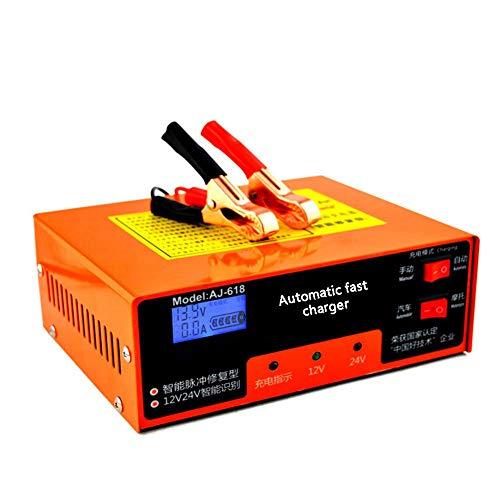 YTBLF Caricabatteria per Auto 12V / 24V, Protezione Intelligente per la Riparazione degli impulsi, Protezione da surriscaldamento/Protezione da cortocircuito