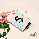 Doodle - Initial S Lasercut Soft Bound Diary (6.69 X 4.72 X 0.5-inches, 80 GSM, 192 Pages) Notebook for Girls