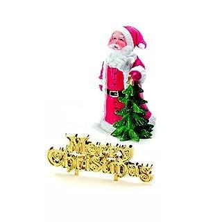 Anniversary House Traditional Santa Topper & Merry Christmas Cake Pick