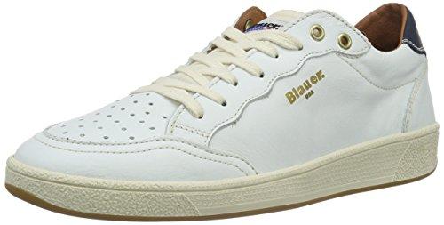 Blauer USA Retro, Baskets Basses Homme Blanc - Blanc