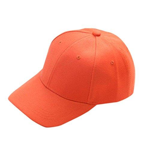 erthome Baby Hut Kappe, Baseball Cap Kinder Teenager Sommer snapback Hut Kappe Junge Mädchen Solide Hüte Caps (Orange)
