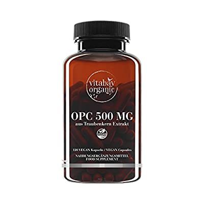 OPC 500 mg Highly dosed - from grape seed extract - vegan capsules (120 vegan Capsules) from Vitabay ®