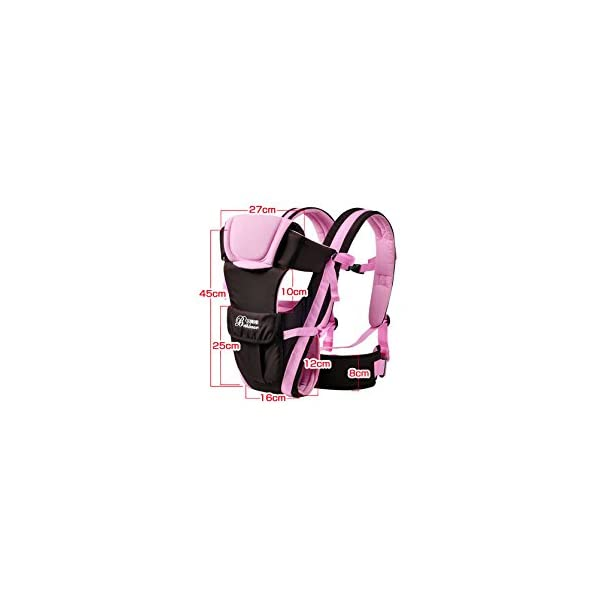 """GudeHome Baby Carrier 4 Positions Backpack, Front Facing, Kangaroo & Sling Lightweight Infant Carrier GudeHome COMFORT AND SECURITY - We know how important it is to you as the consumer to have a product that you can rely on and with peace of mind. That confidence you feel when you know your product was worth every penny! """"The proof is in the pudding"""" they say. Our double sling design provides extra security for baby and privacy while nursing. An adjustable shoulder belt and waist belt are made for safer carrying with a double-protection safety buckle eloquently designed just for your maximum comfort! EVERYTHING YOU EVER WANTED in a baby carrier can be found in flexible, lightweight, and ergonomic baby carrier. Our unique and comfortable carrier allows for FOUR safe carrying positions. The Backpack, Kangaroo, Front-Facing, & Sling positions can all be used based on your mood and comfort. This carrier provides plenty of back support. It sits on both shoulders to take stress off the back. No other baby carrier offers such a variety of positions and styles to carry your baby! QUALITY IS OUR PRIORITY - You may be thinking what separates this baby carrier from other brands that are made of cheap quality and initially seem fine, but soon after begin to fail. The baby carrier is made of top quality and premium material that is meant to last over a long-term period and designed to be the best and last brand of baby carrier you ever have to buy! 8"""