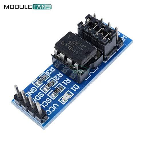 2PCS neue AT24C256 I2C IIC-SchnittStelle EEPROM-SpeicherModul 8P-Chip-Stromversorgungs-Indikator Pull-up-Resistor Direct Jumper Einstellung